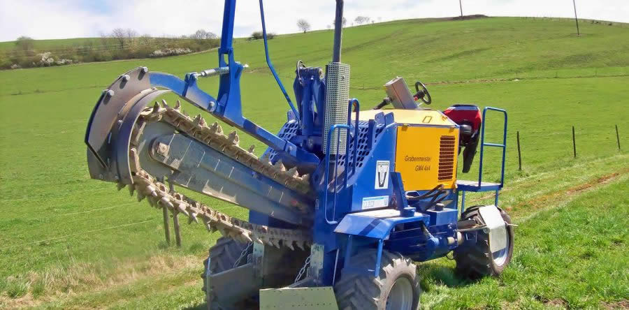 Ganz und zu Extrem GM4 4WD - LIBA - Grabenfräsen für Kabelbau, Landwirtschaft, Drainagen #CC_19