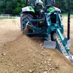 Grabenfräse GM 140-AF zur Kabel-, Rohr- und Drainagerohrverlegung