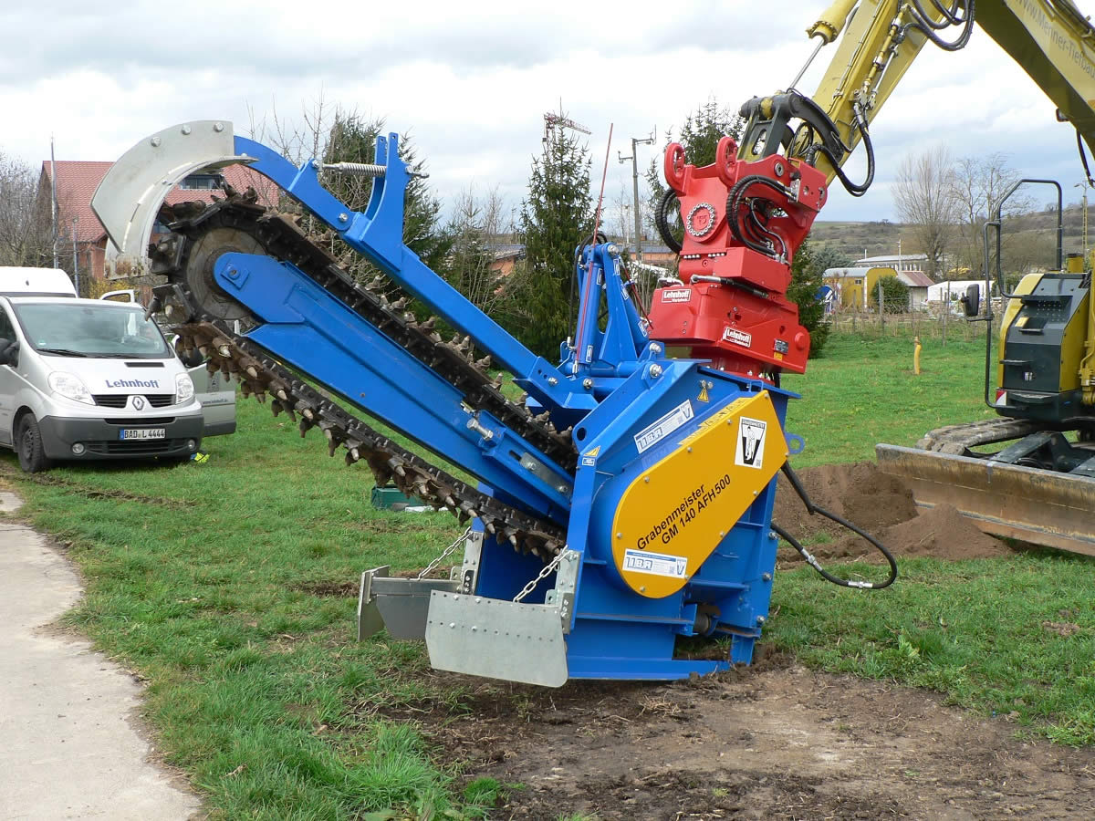 excavator mounted milling machine