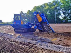Wie tief gräbt eine Grabenfräse?